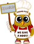 Promo Pete Promotional Specials